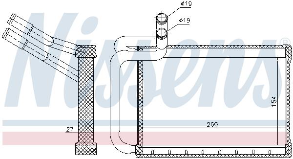 Radiateur de chauffage NISSENS 77635 (X1)