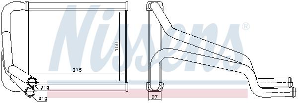 Radiateur de chauffage NISSENS 77652 (X1)