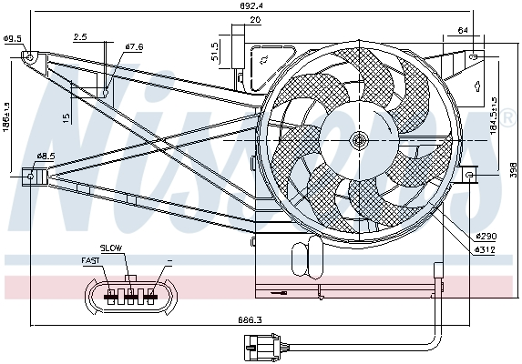 Ventilateur de radiateur NISSENS 85017 (X1)