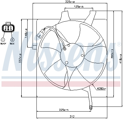 Ventilateur de condenseur NISSENS 85047 (X1)