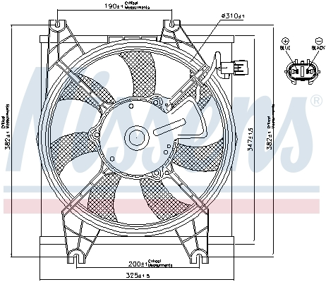 Ventilateur de radiateur NISSENS 85086 (X1)