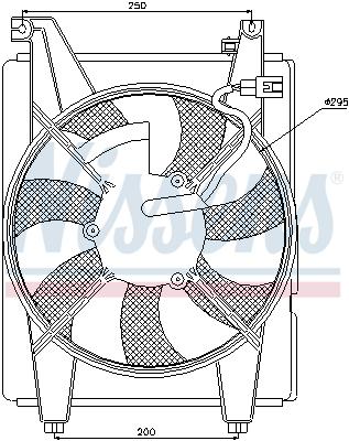 Ventilateur de condenseur NISSENS 85088 (X1)