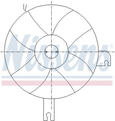 Ventilateur de condenseur NISSENS 85096 (X1)