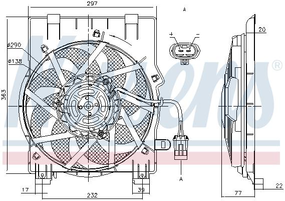 Ventilateur de radiateur NISSENS 85197 (X1)