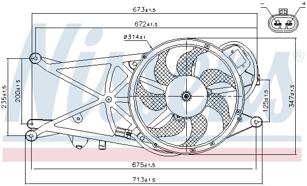 Ventilateur de condenseur NISSENS 85205 (X1)
