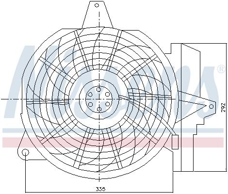 Ventilateur de radiateur NISSENS 85266 (X1)