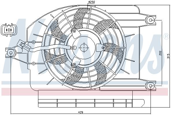 Ventilateur de radiateur NISSENS 85273 (X1)