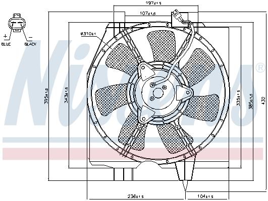 Ventilateur de condenseur NISSENS 85275 (X1)