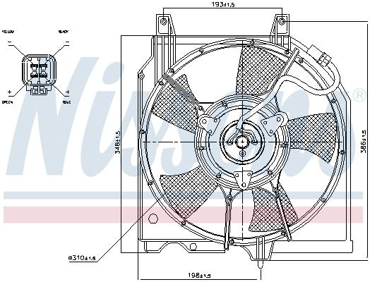 Ventilateur de radiateur NISSENS 85282 (X1)