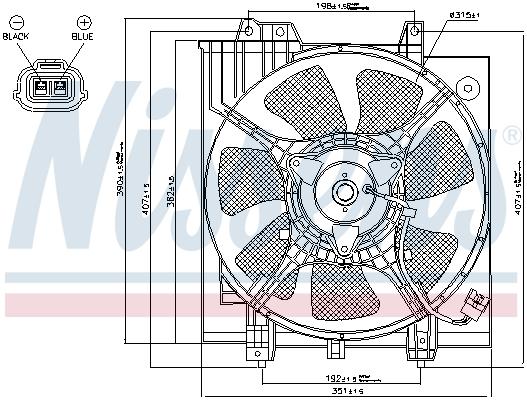 Ventilateur de condenseur NISSENS 85284 (X1)