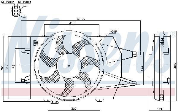 Ventilateur de radiateur NISSENS 85342 (X1)
