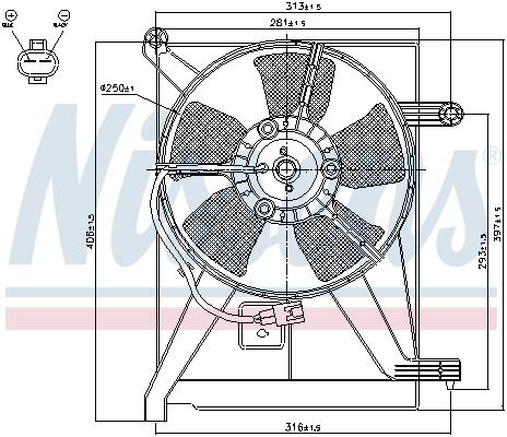 Ventilateur de radiateur NISSENS 85351 (X1)