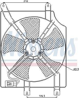 Ventilateur de radiateur NISSENS 85354 (X1)