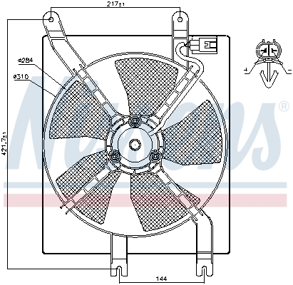 Ventilateur de radiateur NISSENS 85356 (X1)