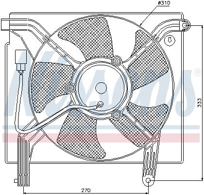 Ventilateur de radiateur NISSENS 85361 (X1)