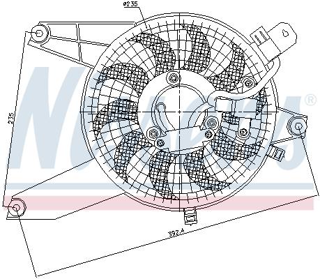 Ventilateur de radiateur NISSENS 85370 (X1)