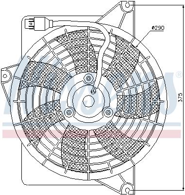 Ventilateur de radiateur NISSENS 85371 (X1)