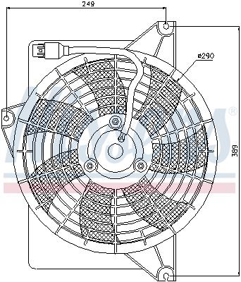 Ventilateur de condenseur NISSENS 85372 (X1)