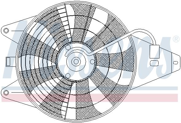Ventilateur de condenseur NISSENS 85375 (X1)