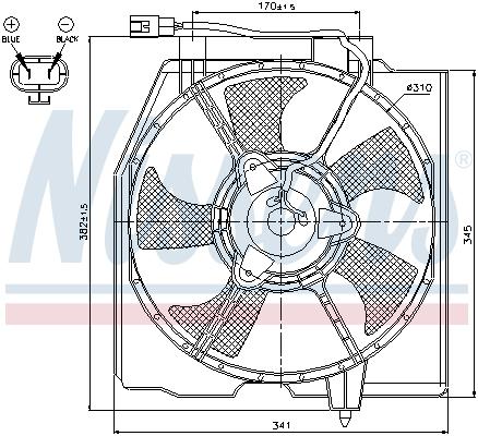 Ventilateur de radiateur NISSENS 85382 (X1)