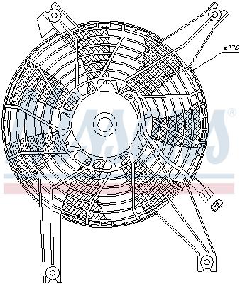 Ventilateur de radiateur NISSENS 85383 (X1)