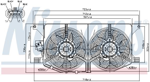 Ventilateur de radiateur NISSENS 85402 (X1)