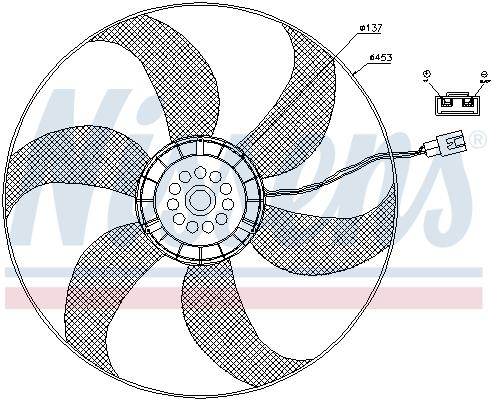 Ventilateur de condenseur NISSENS 85403 (X1)