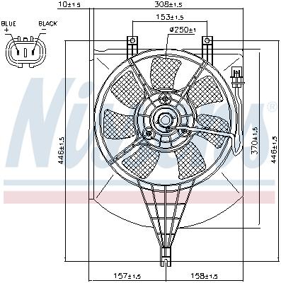 Ventilateur de condenseur NISSENS 85407 (X1)