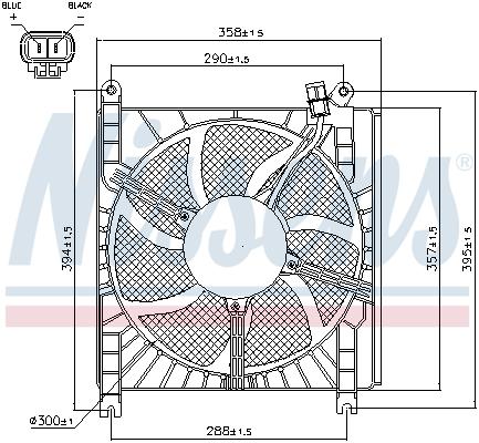 Ventilateur de radiateur NISSENS 85415 (X1)