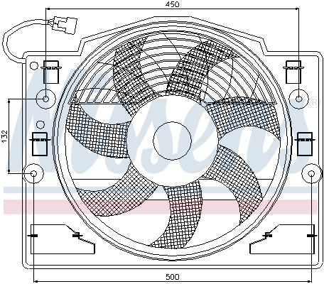 Ventilateur de radiateur NISSENS 85420 (X1)