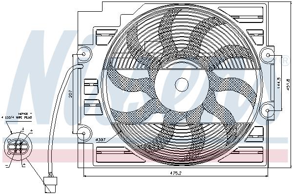 Ventilateur de radiateur NISSENS 85421 (X1)