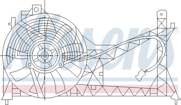 Ventilateur de radiateur NISSENS 85445 (X1)