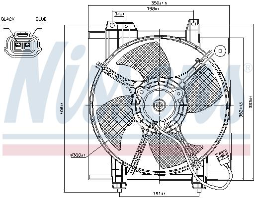 Ventilateur de condenseur NISSENS 85494 (X1)