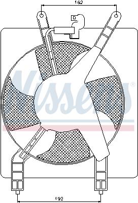Ventilateur de condenseur NISSENS 85503 (X1)