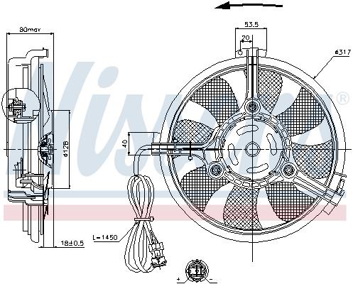 Ventilateur de radiateur NISSENS 85519 (X1)