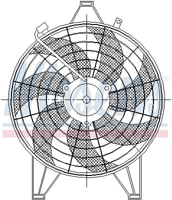 Ventilateur de condenseur NISSENS 85531 (X1)