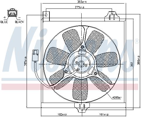 Ventilateur de condenseur NISSENS 85534 (X1)