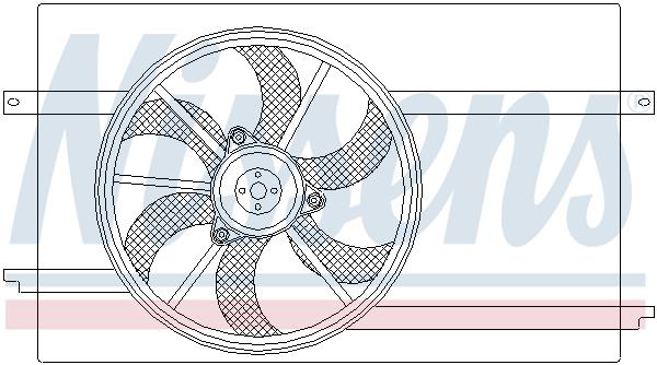 Ventilateur de radiateur NISSENS 85593 (X1)