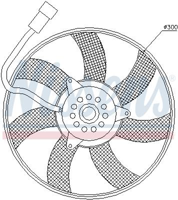 Ventilateur de condenseur NISSENS 85617 (X1)