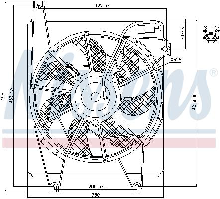 Ventilateur de radiateur NISSENS 85623 (X1)