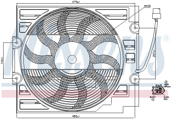 Ventilateur de radiateur NISSENS 85629 (X1)