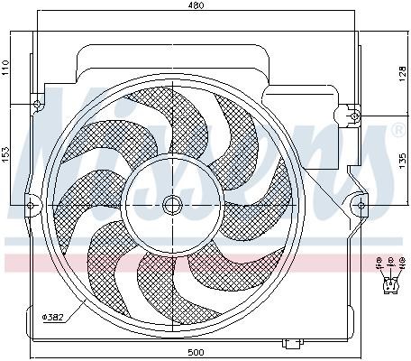 Ventilateur de radiateur NISSENS 85645 (X1)