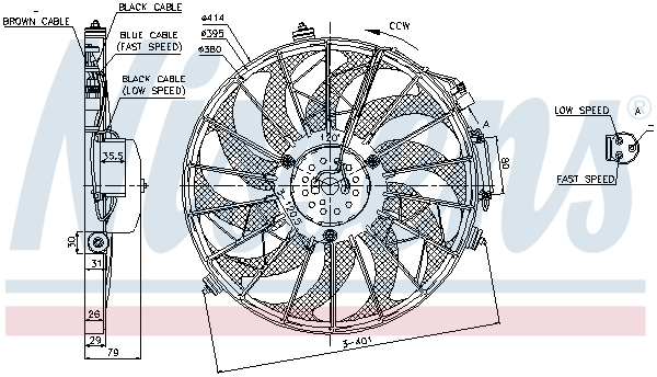 Ventilateur de condenseur NISSENS 85648 (X1)
