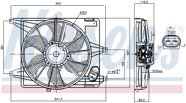Ventilateur de radiateur NISSENS 85708