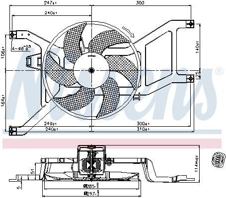 Ventilateur de radiateur NISSENS 85709 (X1)