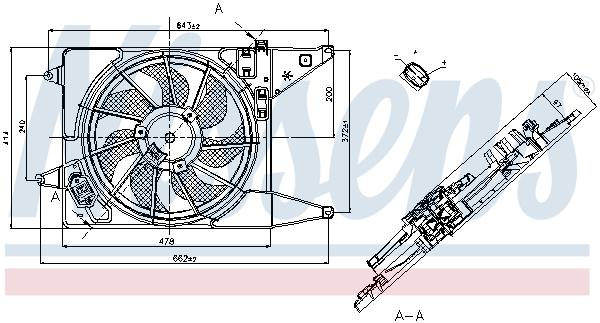 Ventilateur de radiateur NISSENS 85710 (X1)