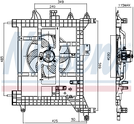 Ventilateur de radiateur NISSENS 85711 (X1)