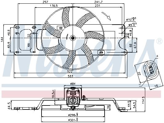 Ventilateur de radiateur NISSENS 85712 (X1)