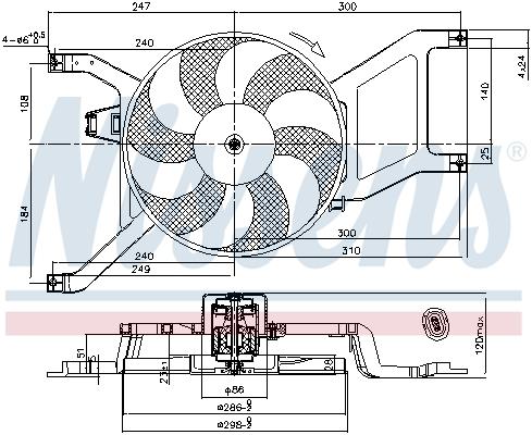 Ventilateur de radiateur NISSENS 85714 (X1)