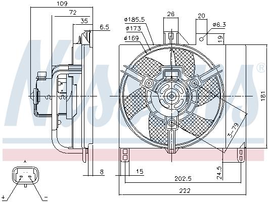 Ventilateur de radiateur NISSENS 85765 (X1)